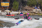 May 30, 2016 - Buena Vista, Colorado, U.S. -  Team Jackson and women's world champion freestyle kayaker, Emily Jackson, competes in the Women's Freestyle Kayak competition during the CKS Paddlefest, one of the Rocky Mountain Region's first adventure events of the summer in Buena Vista, Colorado.