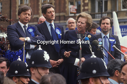 Mrs Maggie Margaret Thatcher General Election 1983. Uk .