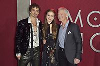 Robert Sheehan, Hera Hilmar and Stephen Lang at the premiere of 'Mortal Engines at the  Regency Village Theatre in Westwood, California on December 5, 2018. Credit: Action Press/MediaPunch ***FOR USA ONLY***