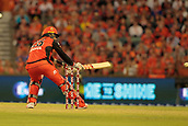8th January 2018, The WACA, Perth, Australia; Australian Big Bash Cricket, Perth Scorchers versus Melbourne Renegades; Tom Cooper of the Melbourne Renegades plays a ramp shot for six during his innings