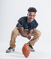 NWA Democrat-Gazette/ANTHONY REYES • @NWATONYR<br /> Kam'Ron Mays-Hunt, of Bentonville, is the all NWADG Newcomer of the Year, photographed Wednesday, Dec. 16, 2015 at the Northwest Arkansas Democrat-Gazette office in Springdale.