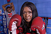 """Saphya Douglin, a 43 year old Boxing mother of 3 children from Marlboro who is training her 20 year old son Denis """"Momma's Boy"""" Douglin for his professional debut. She was recently named New Jersey Boxing Hall of Fame Coach of the Year and in 2007 opened New Breed Boxing and Fitness in Freehold.  Peter Ackerman / Asbury Park Press"""