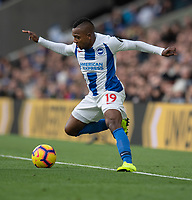 Brighton &amp; Hove Albion's Jose Izquierdo<br /> <br /> Photographer David Horton/CameraSport<br /> <br /> The Premier League - Brighton and Hove Albion v Wolverhampton Wanderers - Saturday 27th October 2018 - The Amex Stadium - Brighton<br /> <br /> World Copyright &copy; 2018 CameraSport. All rights reserved. 43 Linden Ave. Countesthorpe. Leicester. England. LE8 5PG - Tel: +44 (0) 116 277 4147 - admin@camerasport.com - www.camerasport.com