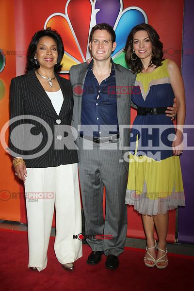 Phylicia Rashad, Steven Pasquale, and Alana de la Garza at NBC's Upfront Presentation at Radio City Music Hall on May 14, 2012 in New York City. ©RW/MediaPunch Inc.