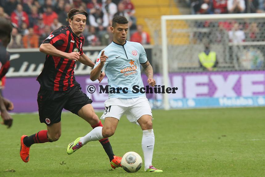 Alex Meier (Eintrracht) gegen Shawn Parker (Mainz) - Eintracht Frankfurt vs. 1. FSV Mainz 05