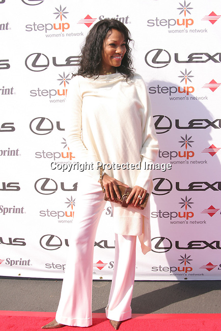 Garcelle Beauvais-Nilon<br />Step Up Women's Network Fourth Annual Fashion Forward Luncheon Presented By Lexus Featuring Andrew Gn <br />Greystone Mansion<br />Beverly Hills, CA.USA<br />Saturday, November 13, 2004<br />Photo By Celebrityvibe.com/Photovibe.com, <br />New York, USA, Phone 212 410 5354, <br />email:sales@celebrityvibe.com