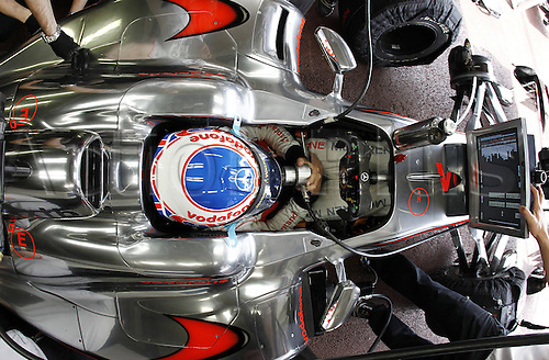 16/05/2010 Formula one GP Monaco Monte Carlo, Jenson Button GBR prepares to race, Vodafone McLaren Mercedes.