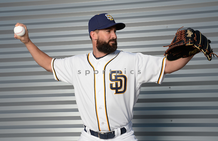 San Diego Padres Nick Vincent (50) during photo day on February 26, 2016 in Peoria, AZ.