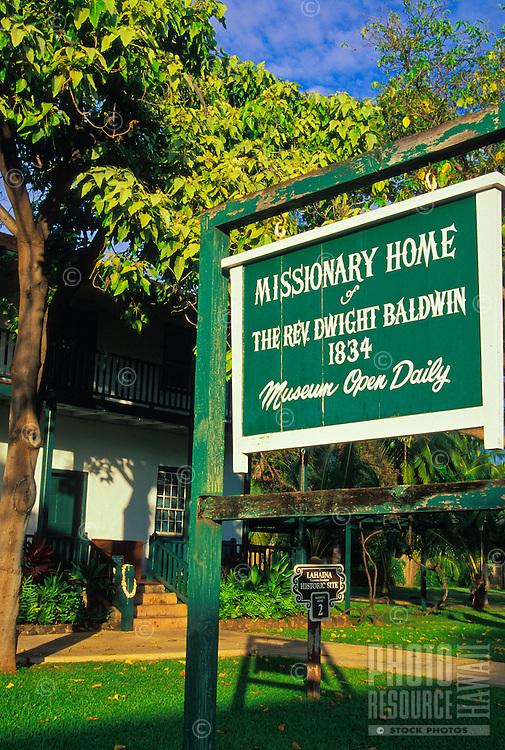 Built in 1834, the original missionary home and museum of the Rev. Dwight Baldwin, can be visited on Front Street in Lahaina.