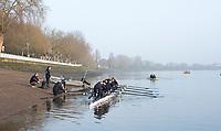 Putney, London,  Tideway Week, Championship Course. River Thames,  Oxford UWBC. boating at Putney.<br /> Tuesday  28/03/2017<br /> [Mandatory Credit; Credit: Peter Spurrier/Intersport Images.com ]