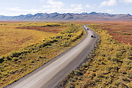 The Dempster Highway crossing through Tombstone Territorial Park, Yukon
