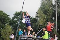 FIERLJEPPEN: IJLST: 15-07-2015, Marrit van der Wal wint met 15.32m, ©foto Martin de Jong