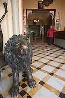 Afrique/Afrique du Nord/Maroc /Casablanca: l'Hotel Transatlantique rue Chaoua le hall Art -Déco