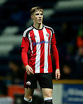 Stephen Mallon of Sheffield United under 18's during the FA Youth Cup 3rd Round match at Deepdale Stadium, Preston. Picture date: November 30th, 2016. Pic Matt McNulty/Sportimage