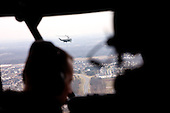 Marine One is seen in flight from Nighthawk Two, as President Barack Obama travels from the White House to Leesburg, Virginia, February 7, 2013. .Mandatory Credit: Pete Souza - White House via CNP