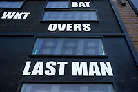 Last Man detail from the scoreboard during Worcestershire CCC vs Essex CCC, Specsavers County Championship Division 1 Cricket at Blackfinch New Road on 12th May 2018