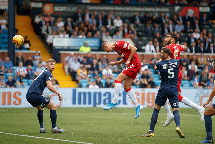 04.08.2019 Kilmarnock v Rangers: Nikola Katic heads in and the rebound falls to Scott Arfield to score