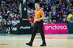 Referee Antonio Conde during Real Madrid vs Kirolbet Baskonia game of Liga Endesa. 19 January 2020. (Alterphotos/Francis Gonzalez)