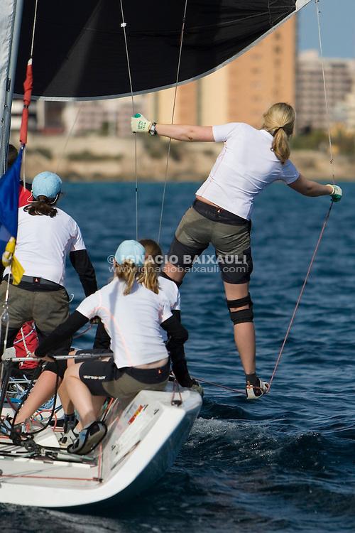 Silke Hahlbrock   . Germany  ...7 Ranking ISAF - X Criterium Internacional Femenino de Match Race - 22-26 April 2008 - Real Club Náutico de Calpe, Calpe, Alicante, Spain - Match Race - Tom28