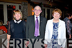 Margaret Culloty and Pat and Norrie McGlynn enjoying the Ballygarry House hotel staff reunion on Saturday.