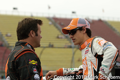 Joey Lagano and Robby Gordon