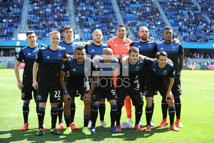 San Jose, CA - Saturday March 30, 2019: A Major League Soccer (MLS) match between the San Jose Earthquakes and the Los Angeles Football Club at Avaya Stadium.