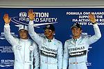 Valtteri Bottas (FIN), Williams F1 Team - Lewis Hamilton (GBR), Mercedes GP - Nico Rosberg (GER), Mercedes GP<br /> for the complete Middle East, Austria & Germany Media usage only!<br />  Foto © nph / Mathis