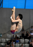 China's Zongyuan Wang competes in the men's 3m Springboard final <br /> <br /> Photographer Hannah Fountain/CameraSport<br /> <br /> FINA/CNSG Diving World Series 2019 - Day 2 - Saturday 18th May 2019 - London Aquatics Centre - Queen Elizabeth Olympic Park - London<br /> <br /> World Copyright © 2019 CameraSport. All rights reserved. 43 Linden Ave. Countesthorpe. Leicester. England. LE8 5PG - Tel: +44 (0) 116 277 4147 - admin@camerasport.com - www.camerasport.com