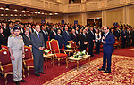 """Egyptian President Abdel Fattah al-Sisi attends the graduation ceremony of Presidential Initiative """"Pioneers of Future Technology"""", in Cairo, Egypt, on October 15, 2017. Photo by Egyptian President Office"""
