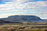 Tabletop Mountain, Leirhnjùkuri, Iceland (near Lake Myvatn) (volcano forms under an ice sheet)