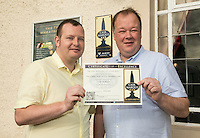 Pictured are Stephen Martin (left) and Tony Martin, licencees of The Three Wheatsheaves, Nottingham