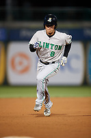 Clinton LumberKings second baseman Bryson Brigman (8) runs the bases during a game against the South Bend Cubs on May 5, 2017 at Four Winds Field in South Bend, Indiana.  South Bend defeated Clinton 7-6 in nineteen innings.  (Mike Janes/Four Seam Images)