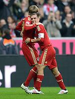 FUSSBALL   1. BUNDESLIGA  SAISON 2012/2013   13. Spieltag FC Bayern Muenchen - Hannover 96     24.11.2012 Jubel Toni Kroos und Philipp Lahm (v. li., FC Bayern Muenchen)