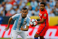 Action photo during the match Argentina vs Chile at Levis Stadium Copa America Centenario 2016. ---Foto  de accion durante el partido Argentina vs Chiler, En el Estadio de la Universidad de Phoenix, Partido Correspondiante al Grupo - D -  de la Copa America Centenario USA 2016, en la foto: Gabriel Mercado<br /> --- 06/06/2016/MEXSPORT/PHOTOSPORT/ Andres Pina