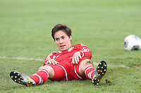 Nicole Cross (Bayern) frustriert nach dem 1:4 - 1. FFC Frankfurt vs. FC Bayern München