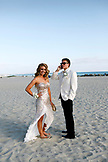 USA, California, San Diego, Coronado Island, prom couple Adam Whalen and Audrey Jarvis on the beach in front of the Hotel del Coronado