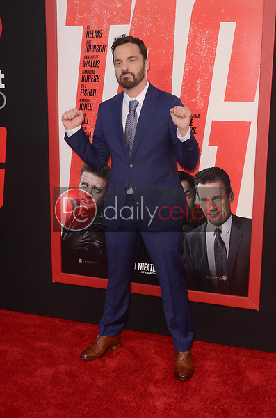 "Jake Johnson<br /> at the ""Tag"" World Premiere, Village Theater, Westwood, CA 06-07-17<br /> David Edwards/DailyCeleb.com 818-249-4998"