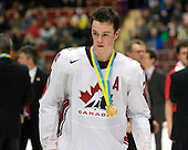 Jonathan Toews (Winnipeg, MB - University of North Dakota Fighting Sioux) - Team Canada (gold), Team Russia (silver) and Team USA line up for the individual awards and team medal presentations following Team Canada's 4-2 victory over Team Russia to win the gold in the 2007 World Championship on Friday, January 5, 2007 at Ejendals Arena in Leksand, Sweden.