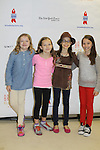 Matilda's stars - Milly Shapiro - Sophia Gennusa - Oona Laurence - Bailey Ryon at the 27th Annual Broadway Flea Market & Grand Auction to benefit Broadway Cares/Equity Fights Aids in Shubert Alley, New York City, New York.  (Photo by Sue Coflin/Max Photos)