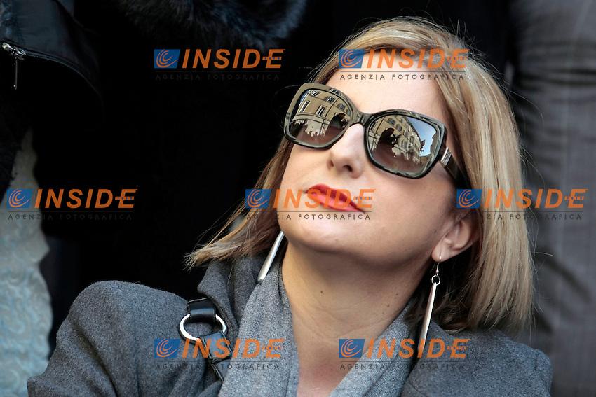 Roberta Lombardi<br /> Roma 15-02-2014 Montecitorio. Deputati e Senatori del Movimento 5 Stelle fanno le consultazioni in piazza per protesta, non presentandosi alle Consultazioni al Quirinale.<br /> Photo Samantha Zucchi Insidefoto