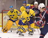 Magnus Akerlund (HV 71 - Carolina Hurricanes), Anton Stralman (Timra IK - Toronto Maple Leafs), Niklas Andersson (Brynas IF), Adam Pineault  (Moncton Wildcats - Columbus Blue Jackets)  The US Blue team lost to Sweden 3-2 in a shootout as part of the 2005 Summer Hockey Challenge at the National Junior (U-20) Evaluation Camp in the 1980 rink at Lake Placid, NY on Saturday, August 13, 2005.