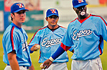 "22 July 2005: In a tribute to the Montreal Expos, the Single-A, NY-Penn League Vermont Expos hosted the New Jersey Cardinals at historic Centennial Field, in Burlington, Vermont. The event saw the Expos play in quasi-throwback powder-blue jerseys, and featured Andre ""The Hawk"" Dawson as special guest for the game. The Expos fell to the Cards 11-3 in the first game of the 3-game series. Mandatory photo credit: Ed Wolfstein"