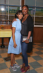Nicolette Robinson with Patina Miller backstage after Nicolette Robinson makes her Broadway debut in 'Waitress' on September 4, 2081 at the Brooks Atkinson Theatre in New York City.