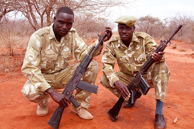 SHeldrick's anti poaching unit patroling a private ranch.