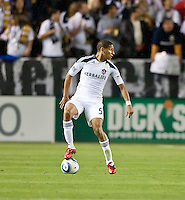 CARSON, CA – April 2, 2011: LA Galaxy defender Sean Franklin (5) during the match between LA Galaxy and Philadelphia Union at the Home Depot Center, March 26, 2011 in Carson, California. Final score LA Galaxy 1, Philadelphia Union 0.