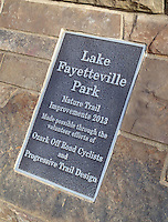 NWA Democrat-Gazette/FLIP PUTTHOFF <br /> Ozark Off Road Cyclists and Progressive Trail Design were      Feb. 3 2017    recognized by the city of Fayetteville for their work on the soft-surface trail at Lake Fayetteville.
