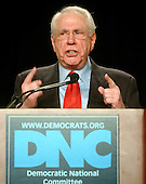 Washington, D.C. - February 3, 2007 -- Former United States Senator Mike Gravel (Democrat of Alaska), a candidate for the Democratic Party's  2008 Presidential nomination, speaks at the 2007 Democratic National Committee Winter Meeting in Washington, D.C. on Saturday, February 3, 2007..Credit: Ron Sachs / CNP
