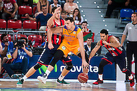 Baskonia's player Johannes Voigtmann and Shane Larkin and Herbalife Gran Canaria's player Darko Planinic during the match of the semifinals of Supercopa of La Liga Endesa Madrid. September 23, Spain. 2016. (ALTERPHOTOS/BorjaB.Hojas)