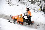 Snowmobile hill climb