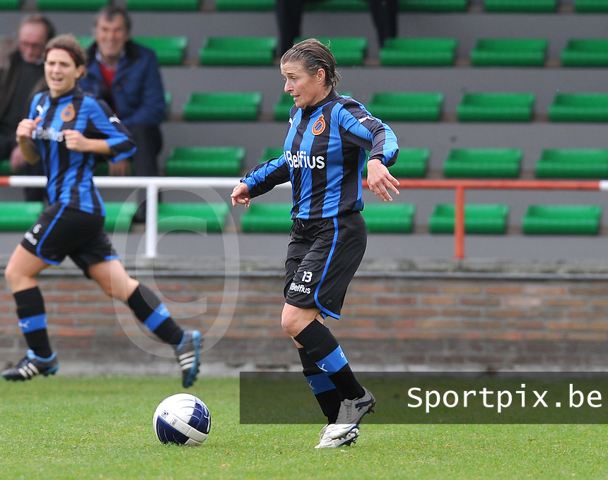 Club Brugge Dames : Christine Saelens.foto DAVID CATRY / Vrouwenteam.be